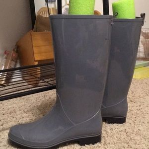Shoes - Grey Rain Boots